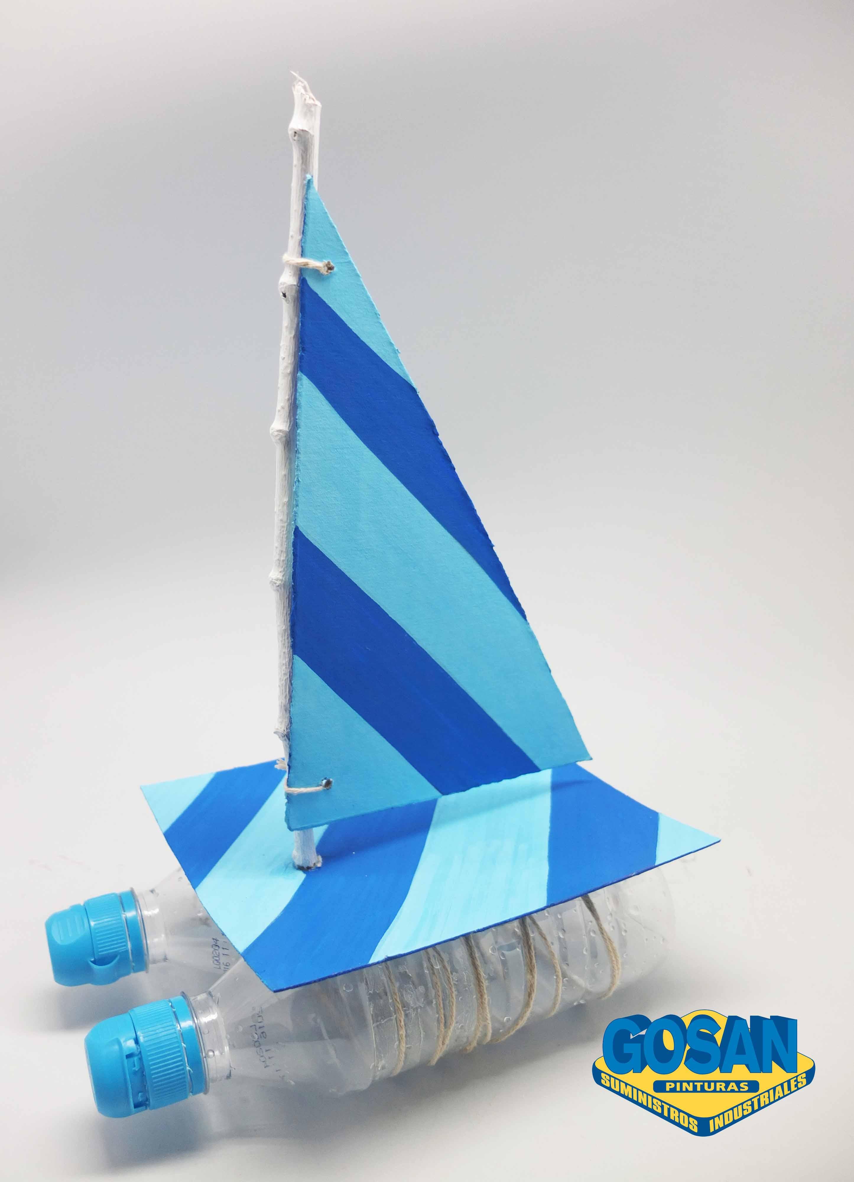 como hacer un barco con botella de plastico mejor