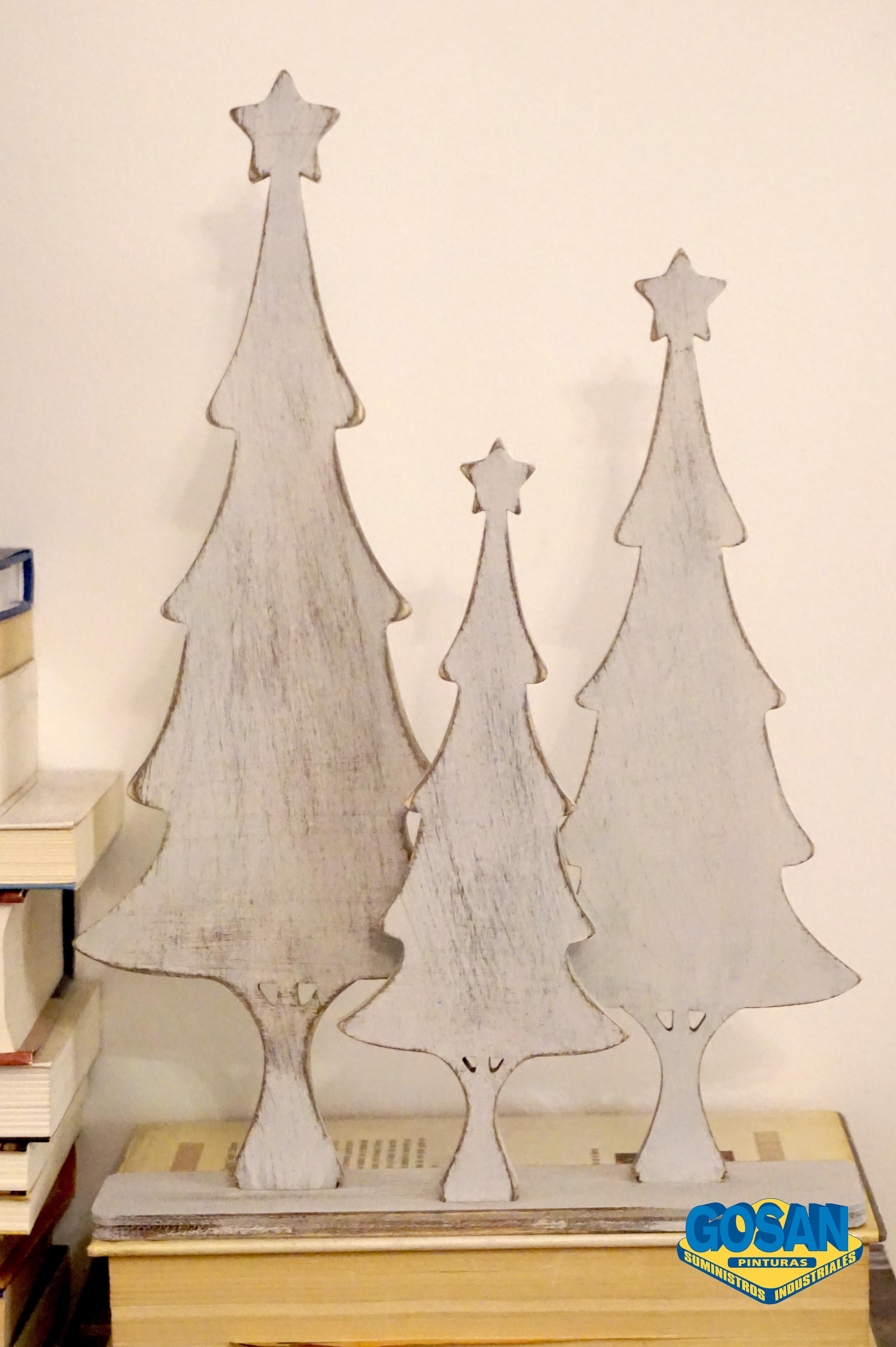 Arboles de madera para navidad pinturas coche - Arboles de navidad en madera ...
