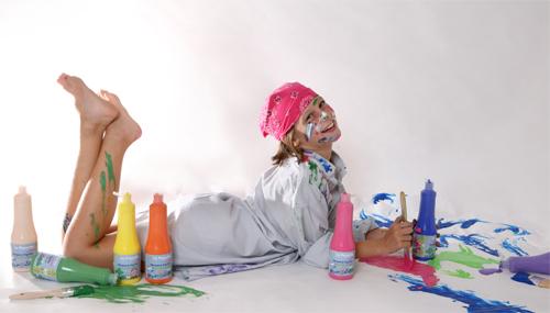 Nueva linea de pintura especial para ninos la pajarita