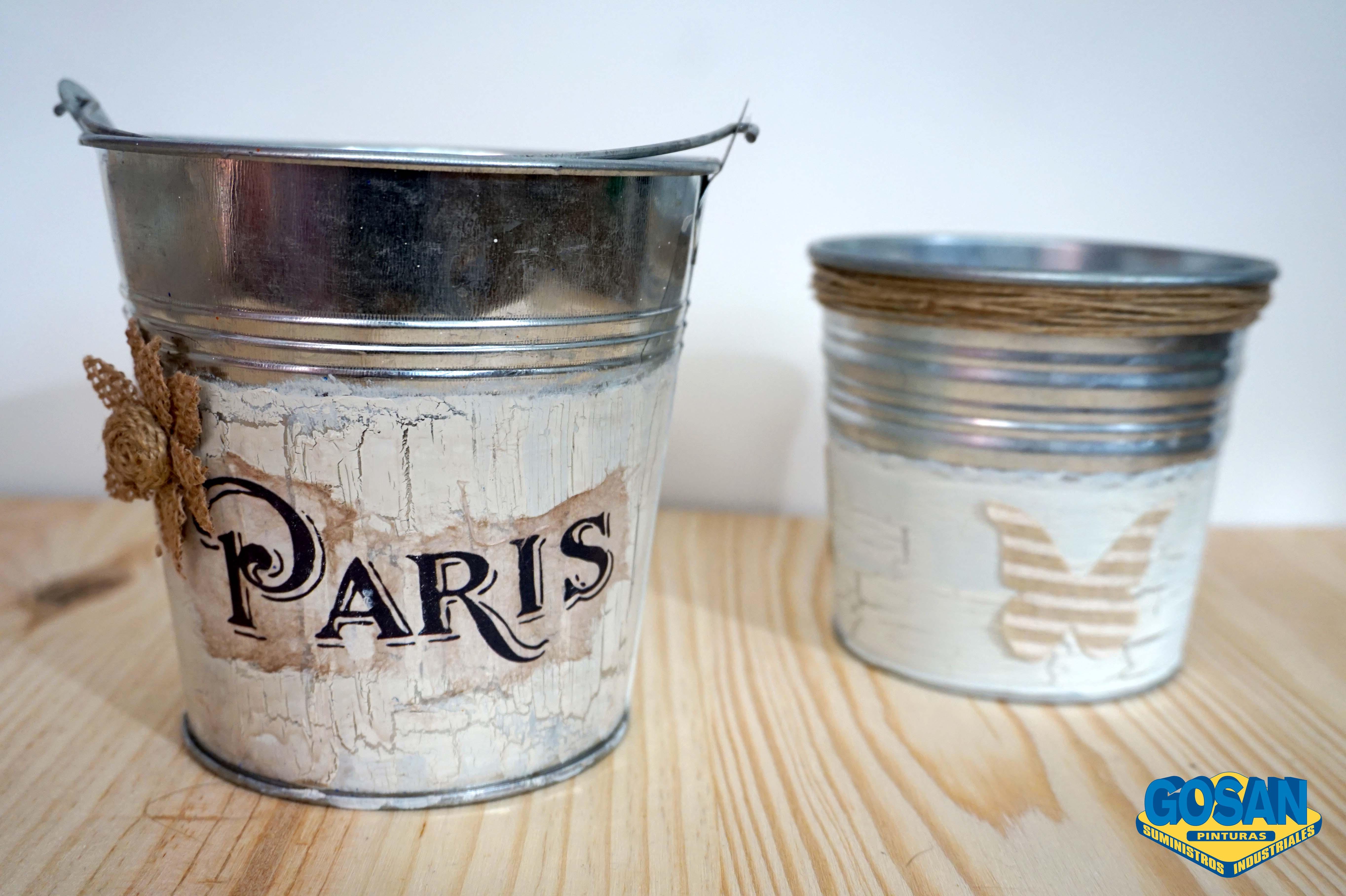 Que pintura utilizar para realizar manualidades sobre - Manualidades pintar caja metal ...