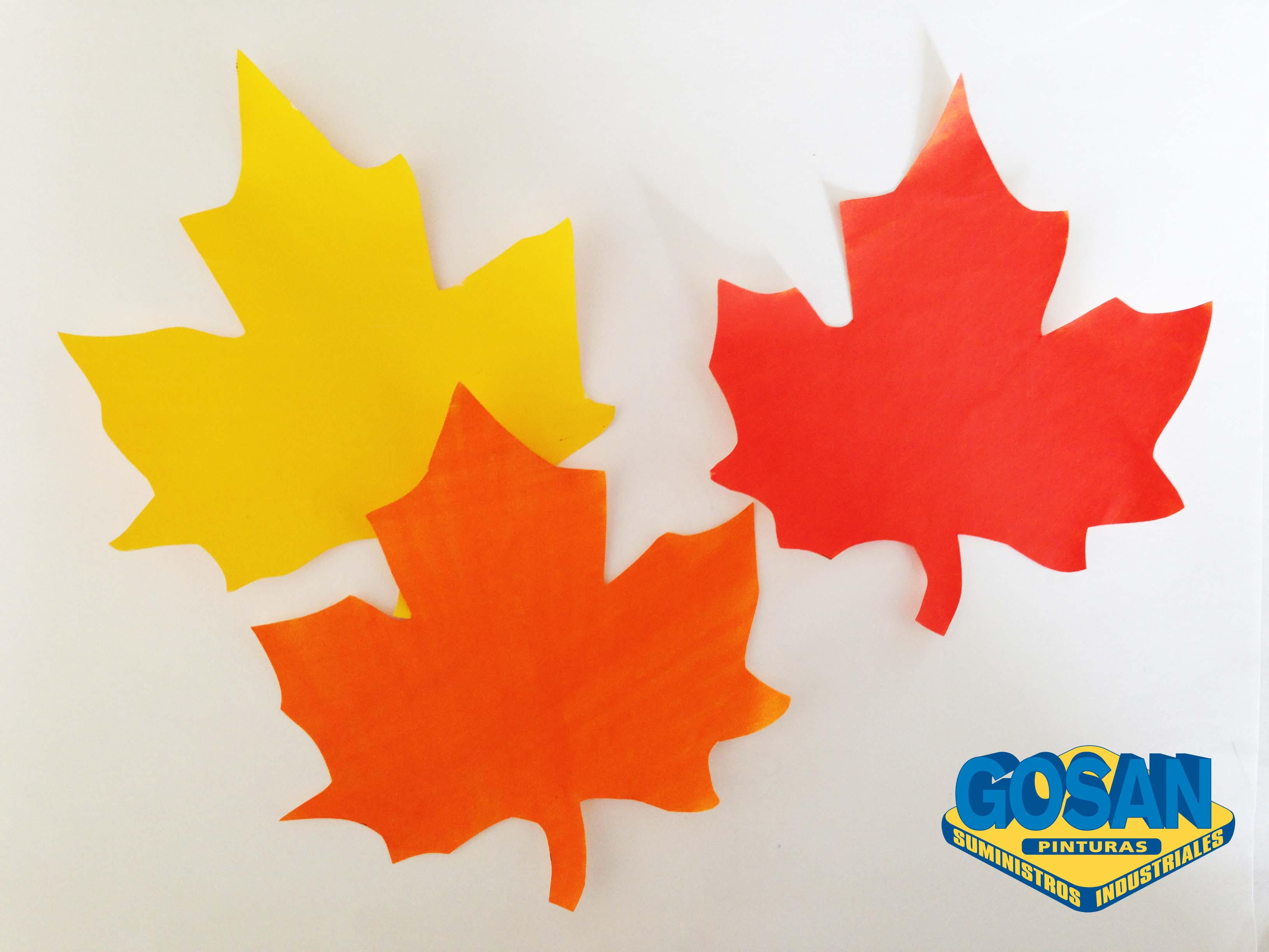 Hojas en otono pinturas coche interiores y manualidades - Decorar hojas de otono ...