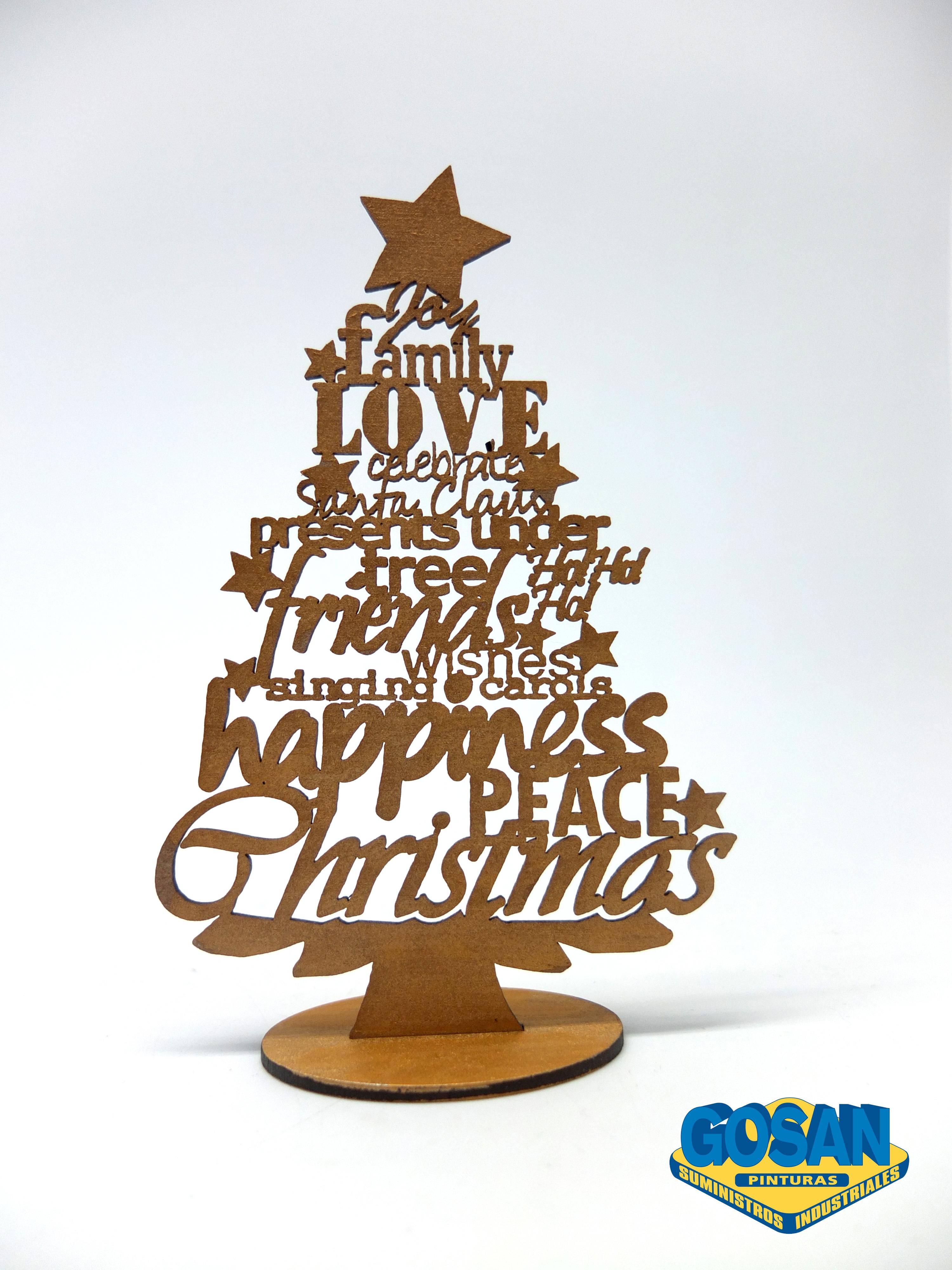 Arboles navidenos pinturas coche interiores y manualidades - Arboles de navidad de madera ...