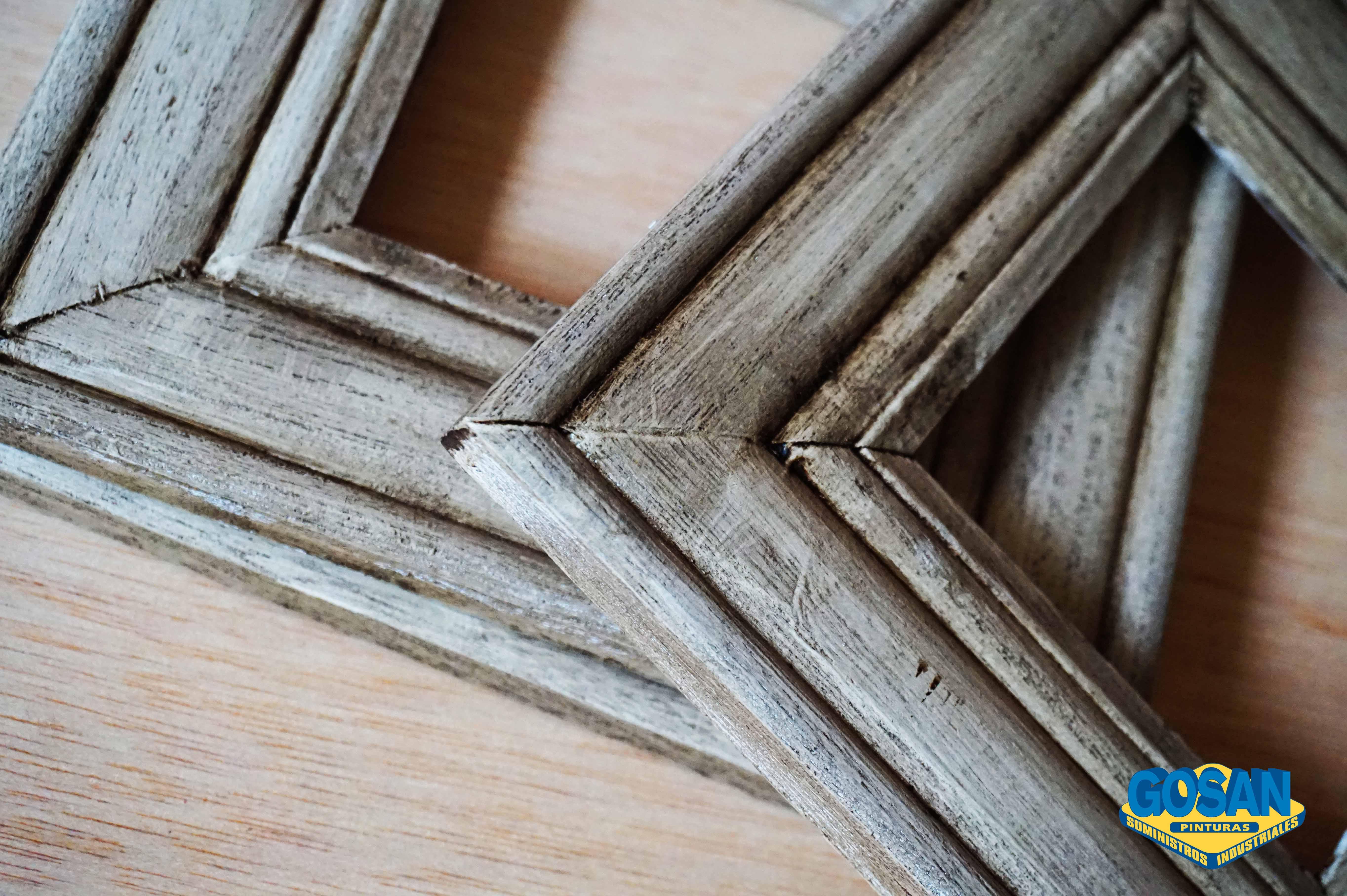 Marcos de maderas envejecidas con cera oscura | Pinturas Coche ...