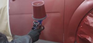 Mantener una distancia máxima de 20 cm es importante a la hora de aplicar la pintura