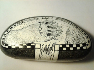 Piedra pintada